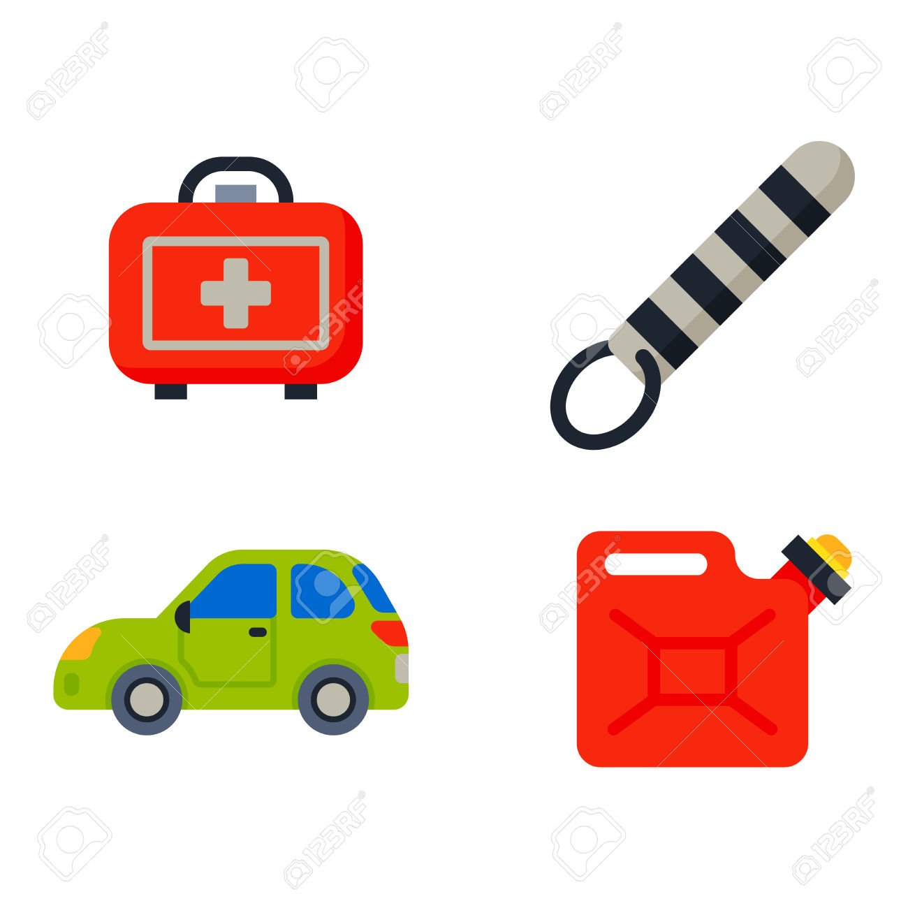 Auto Transport Motorist Icons Symbols And Equipment Auto Transport.