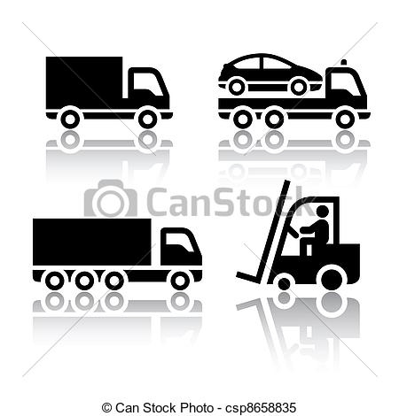 Transport truck clipart.
