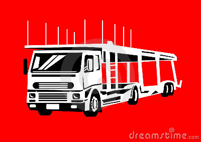 Car Transporter Vehicle Hauler Stock Illustrations, Vectors.