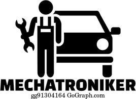 Autowerkstatt Clip Art.
