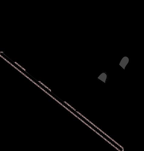 Wellenförmige Zielflagge Vektor.