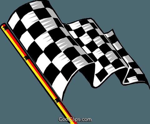 Zielflagge Vektor Clipart Bild.