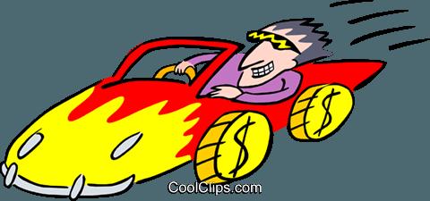 Cartoon Rennwagen Vektor Clipart Bild.