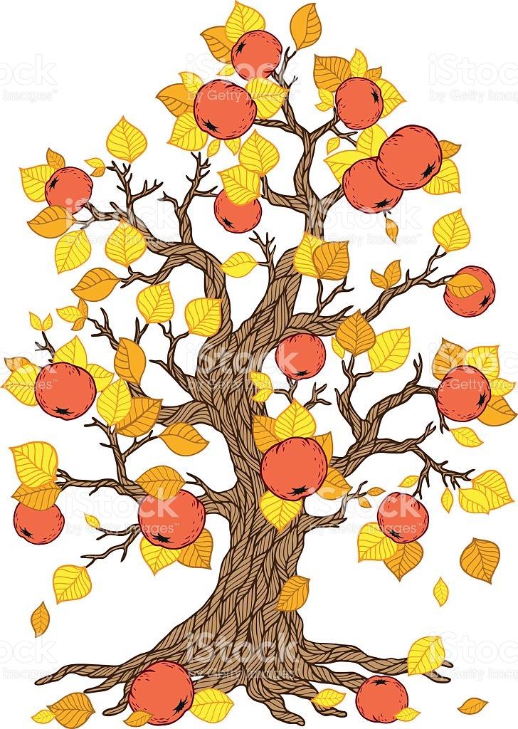 Fall Apple Tree Clipart.