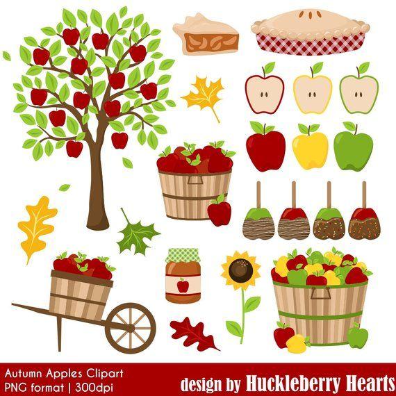 Apple Clipart, Digital Apples, Autumn Clipart, Fall Clipart.