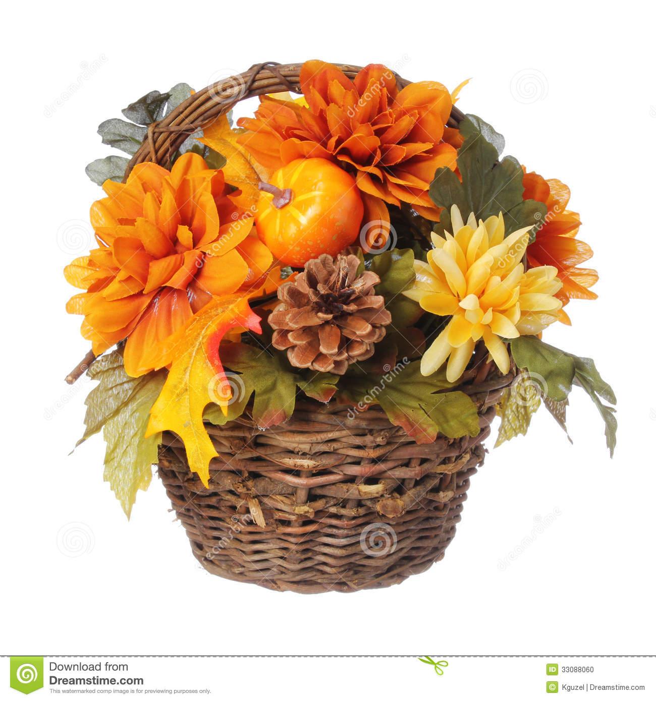 Fall Flower Arrangements Clip Art.