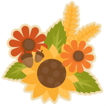 Clip art fall flower.