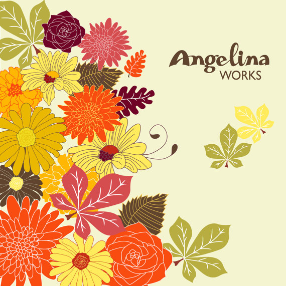 Clipart autumn flowers.