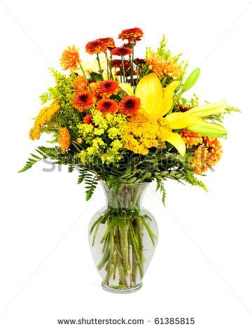 Fall Flower Arrangements Clipart.