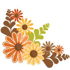 autumn flowers clipart.