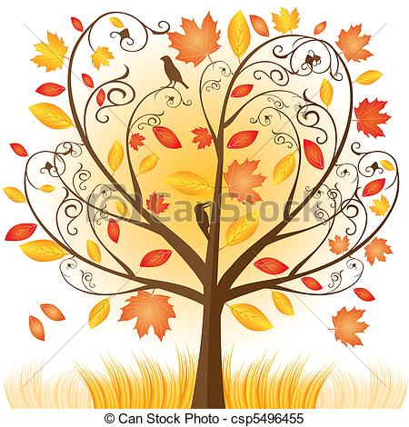 Cartoon Autumn Clipart.