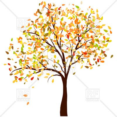 Autumn birch tree with falling leaves Stock Vector Image in.
