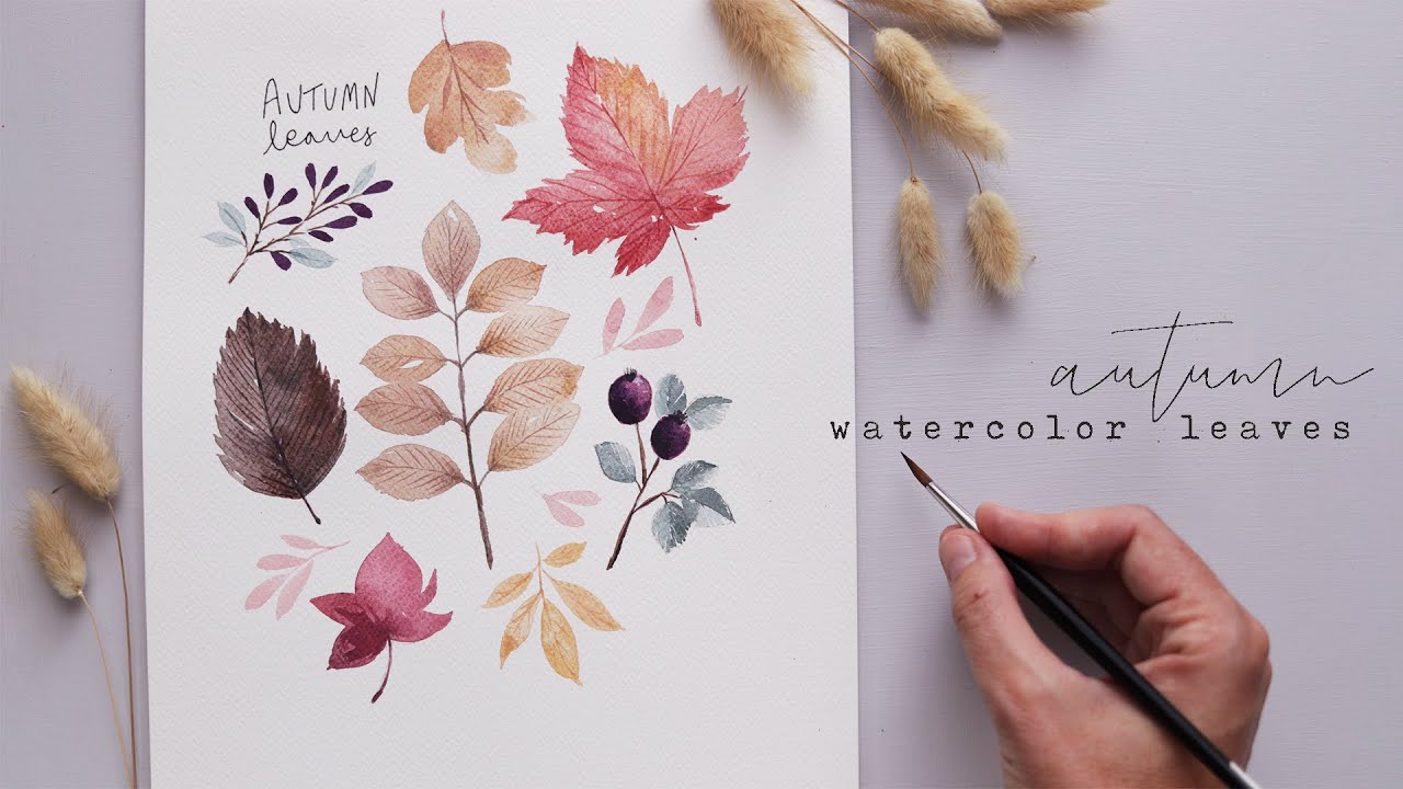 Every Watercolor Leaf You'll Ever Need AUTUMN EDITION.