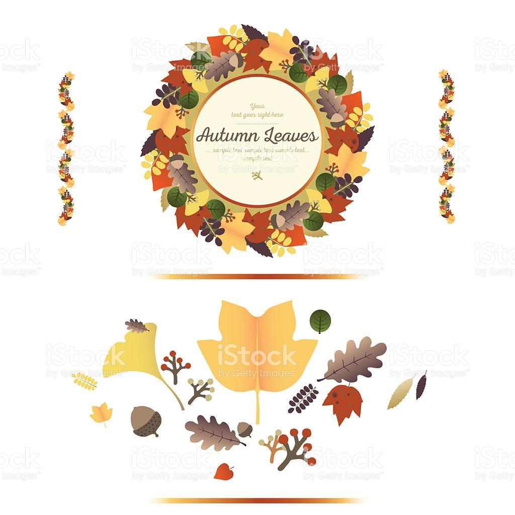 Autumn Ornaments stock vector art 607929796.