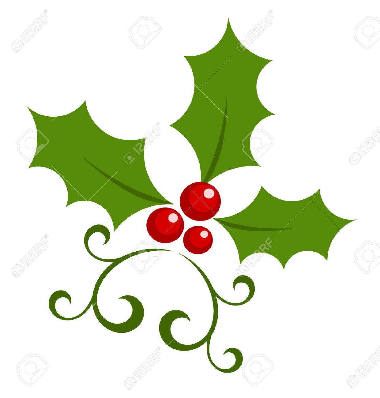 Christmas Holly Berry Symbol. Royalty Free Cliparts, Vectors, And.