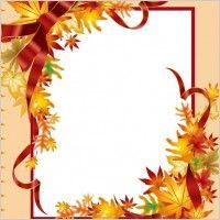 Fall Borders Clip Art.
