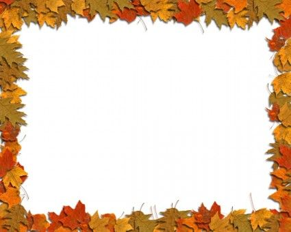 Free Fall Border Templates.