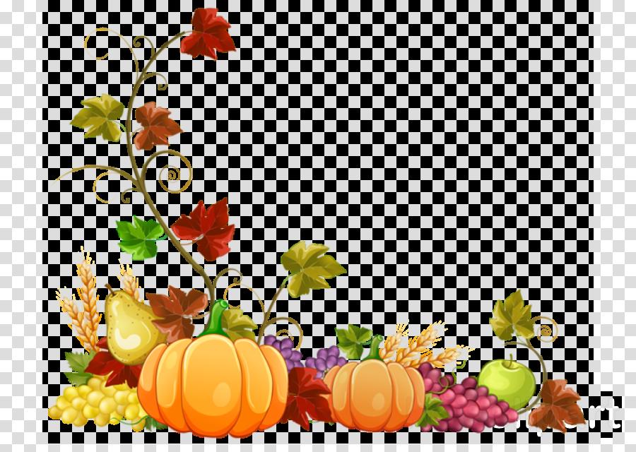 Floral Border Autumn Border clipart.