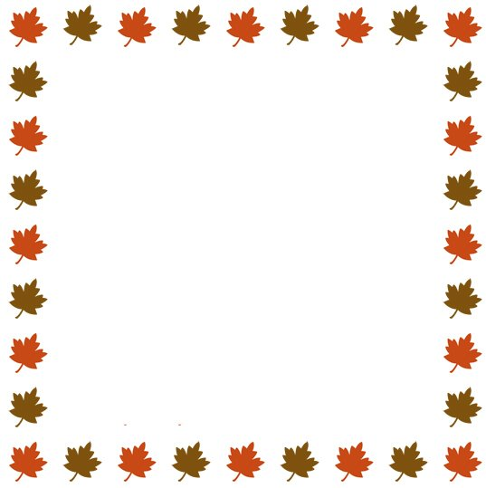 251 Fall Border free clipart.