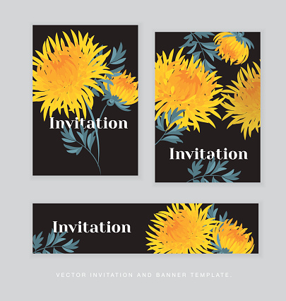 Autumn Chrysanthemum Flower Clip Art, Vector Images.