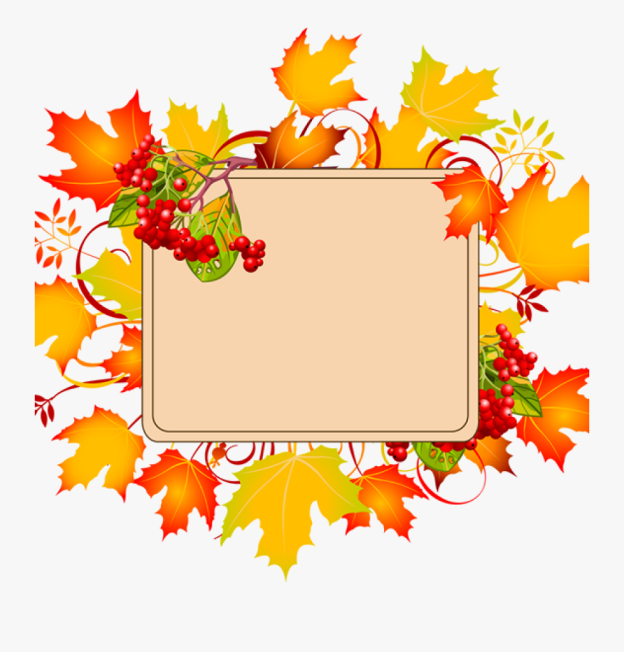 Transparent Fall Leaves Corner Border Png.