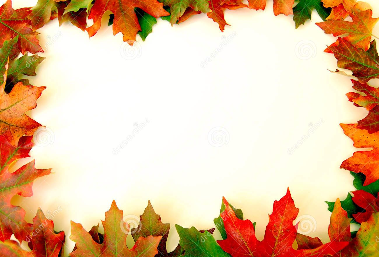 Fall Leaves Border Free Clip Art.