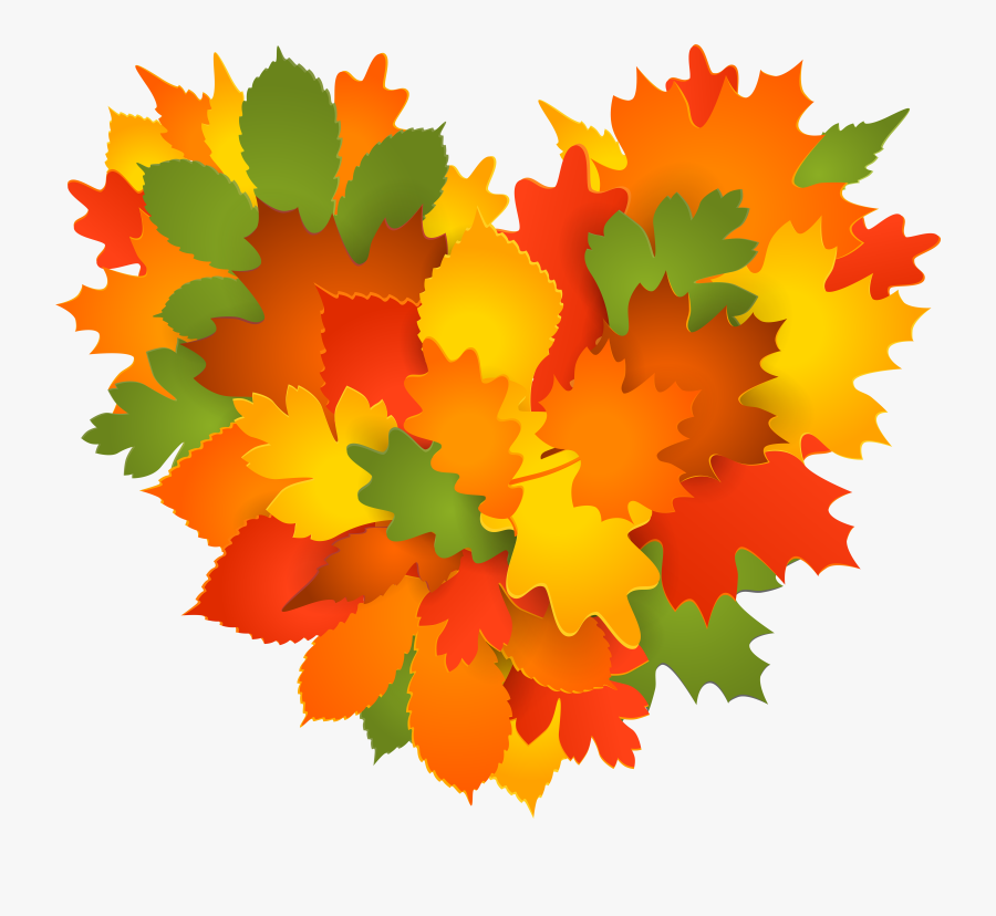 Fall Foliage Clip Art Heart , Free Transparent Clipart.