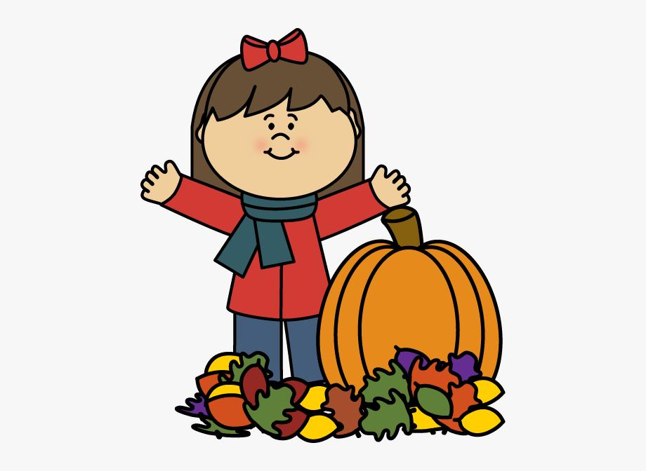 Autumn Girl Clip Art.