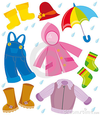 Autumn Clothes Clipart.