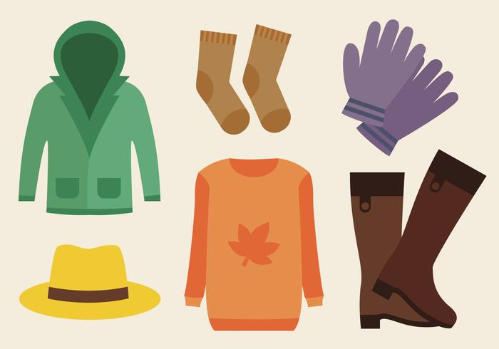 Free Autumn Clothes Vector.