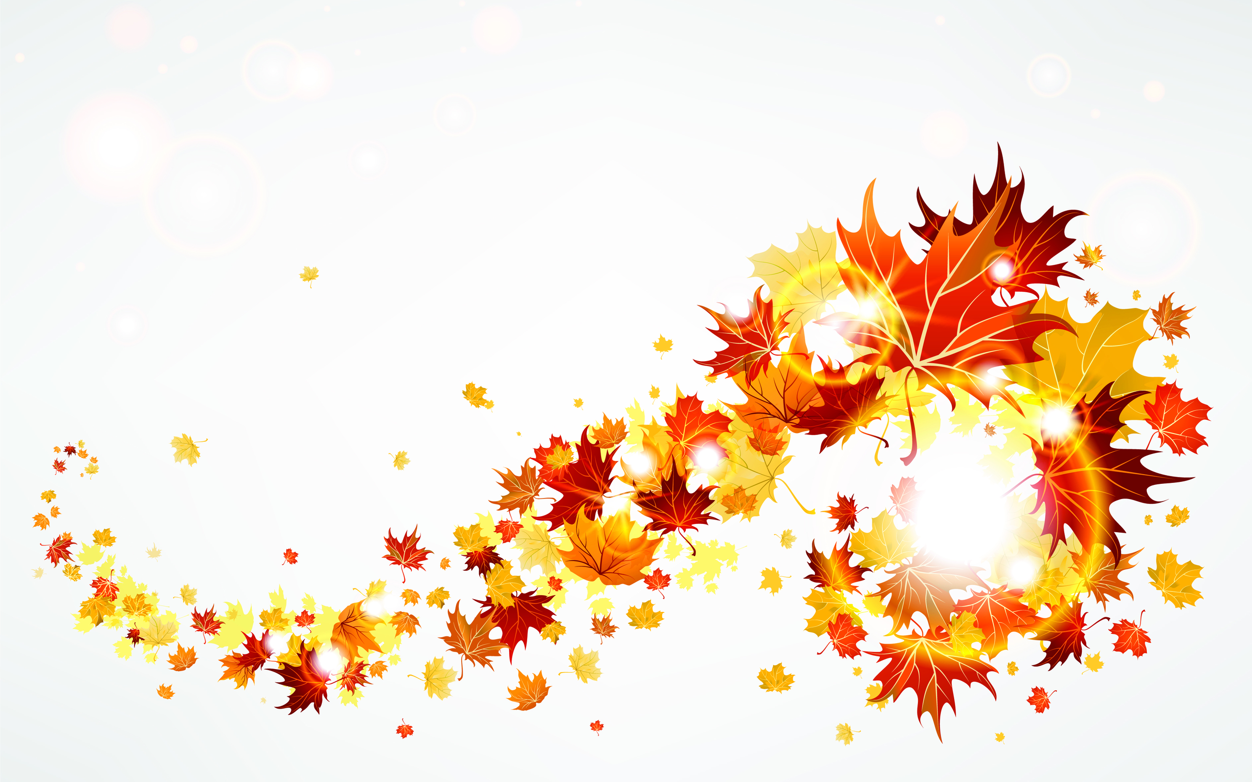 Autumn colors clipart.