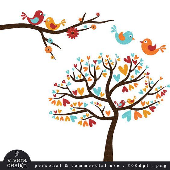 Love Birds in Autumn Colors.