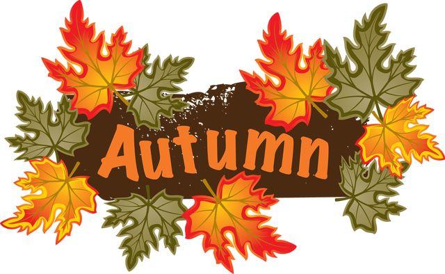 Fall season clipart.