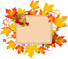 Fall Colors Corners Clipart.