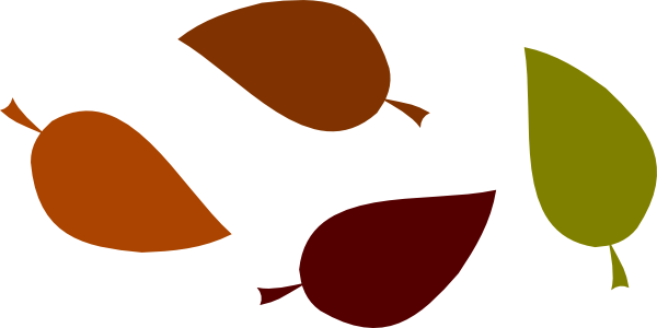 Color Fall Leaves Clipart.