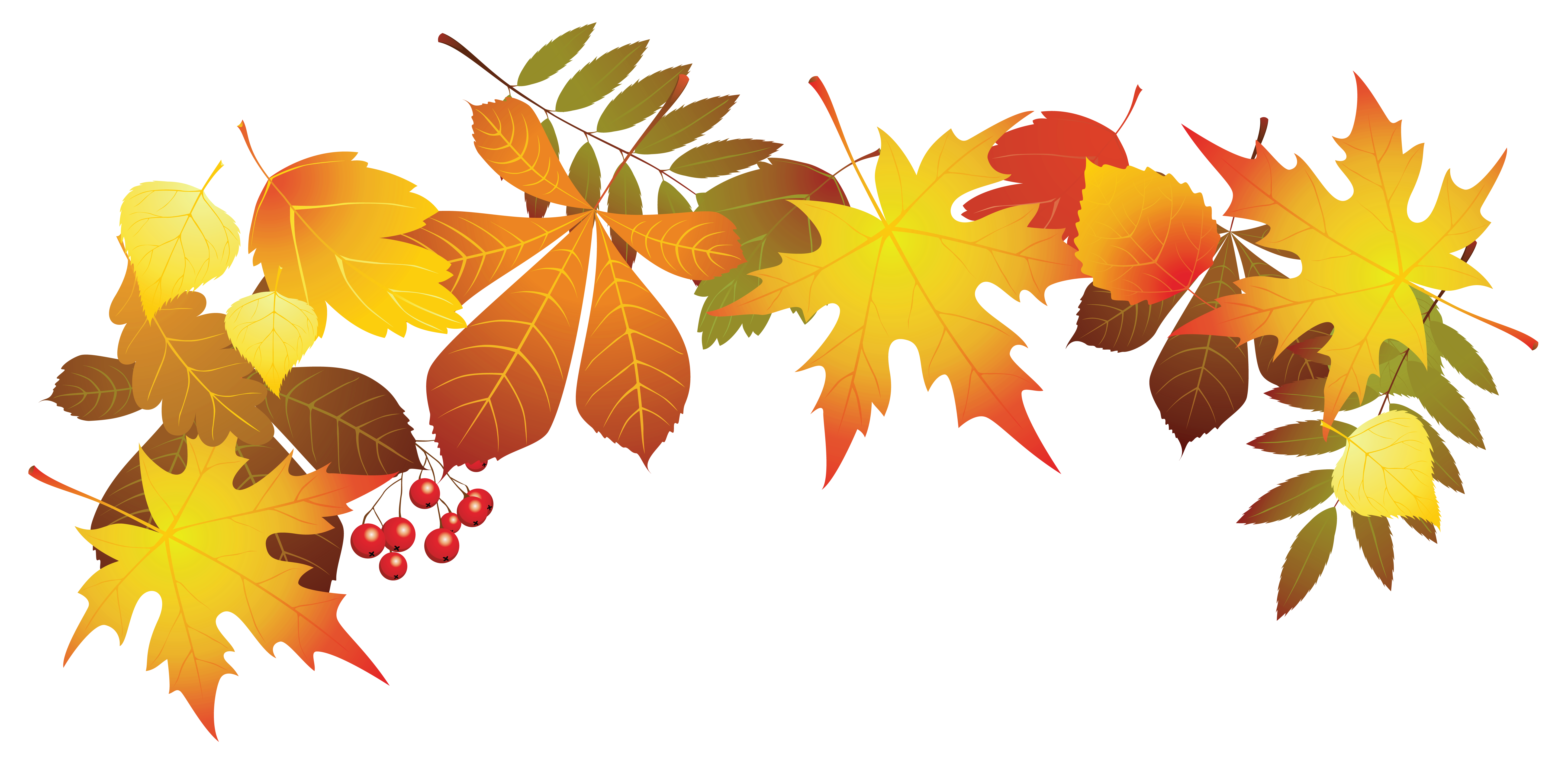 Clip Art Autumn Foliage.