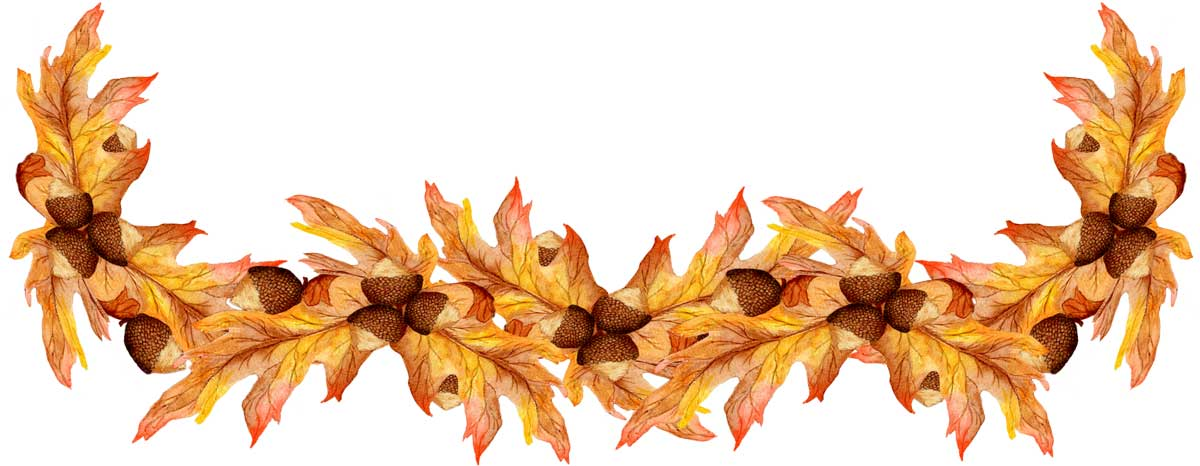 Fall Blessings Clipart.
