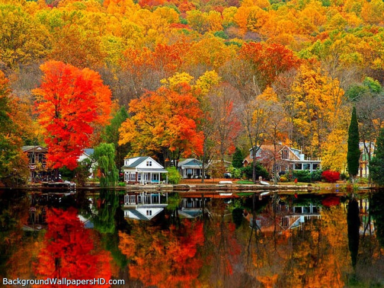 Free desktop clipart autumn scenes.