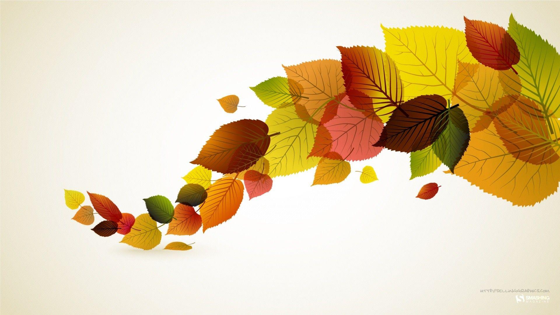 Autumn leaves digital art wallpaper {artist undetermined.