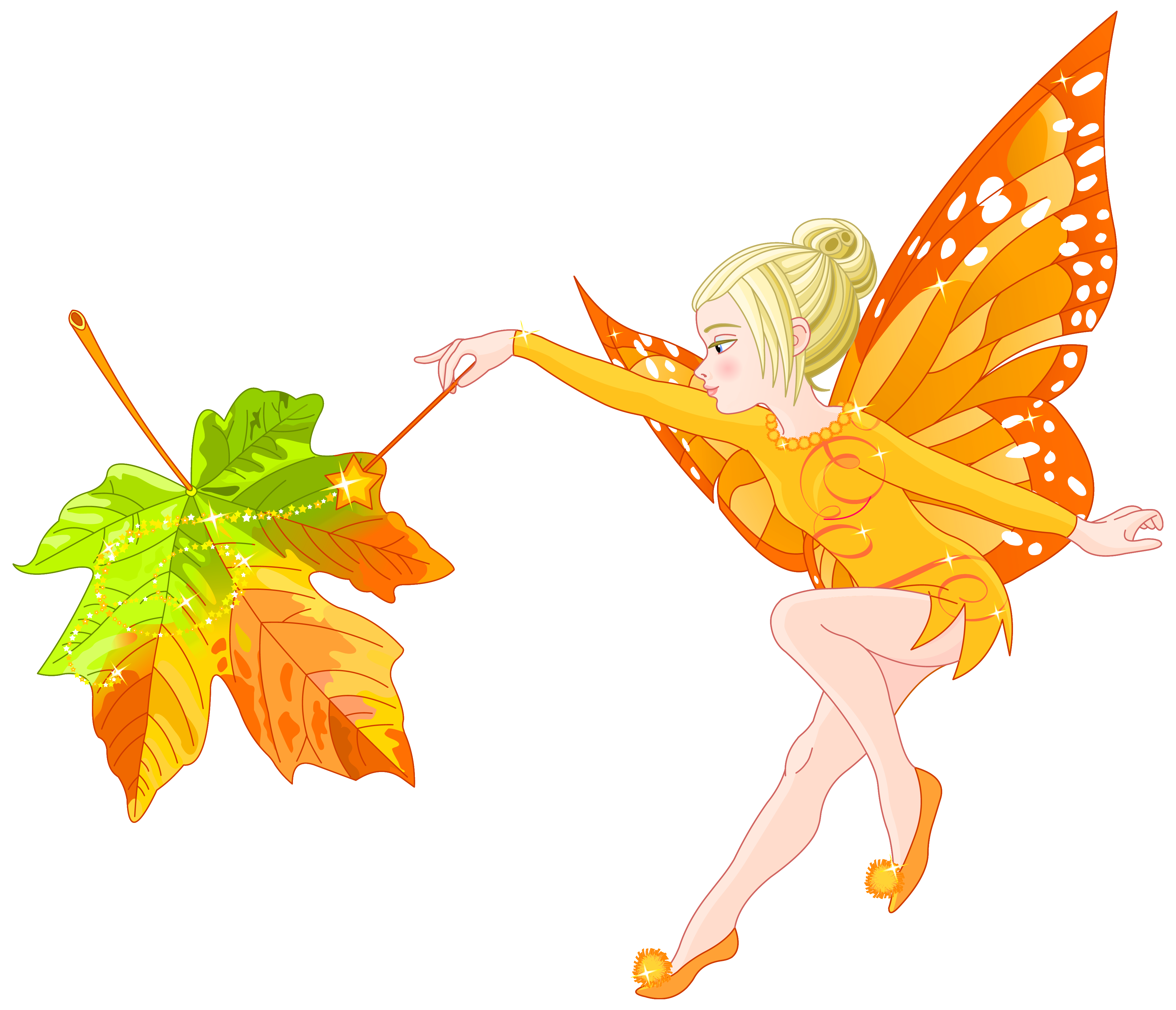 Autumn Fairy PNG Clipart Image.