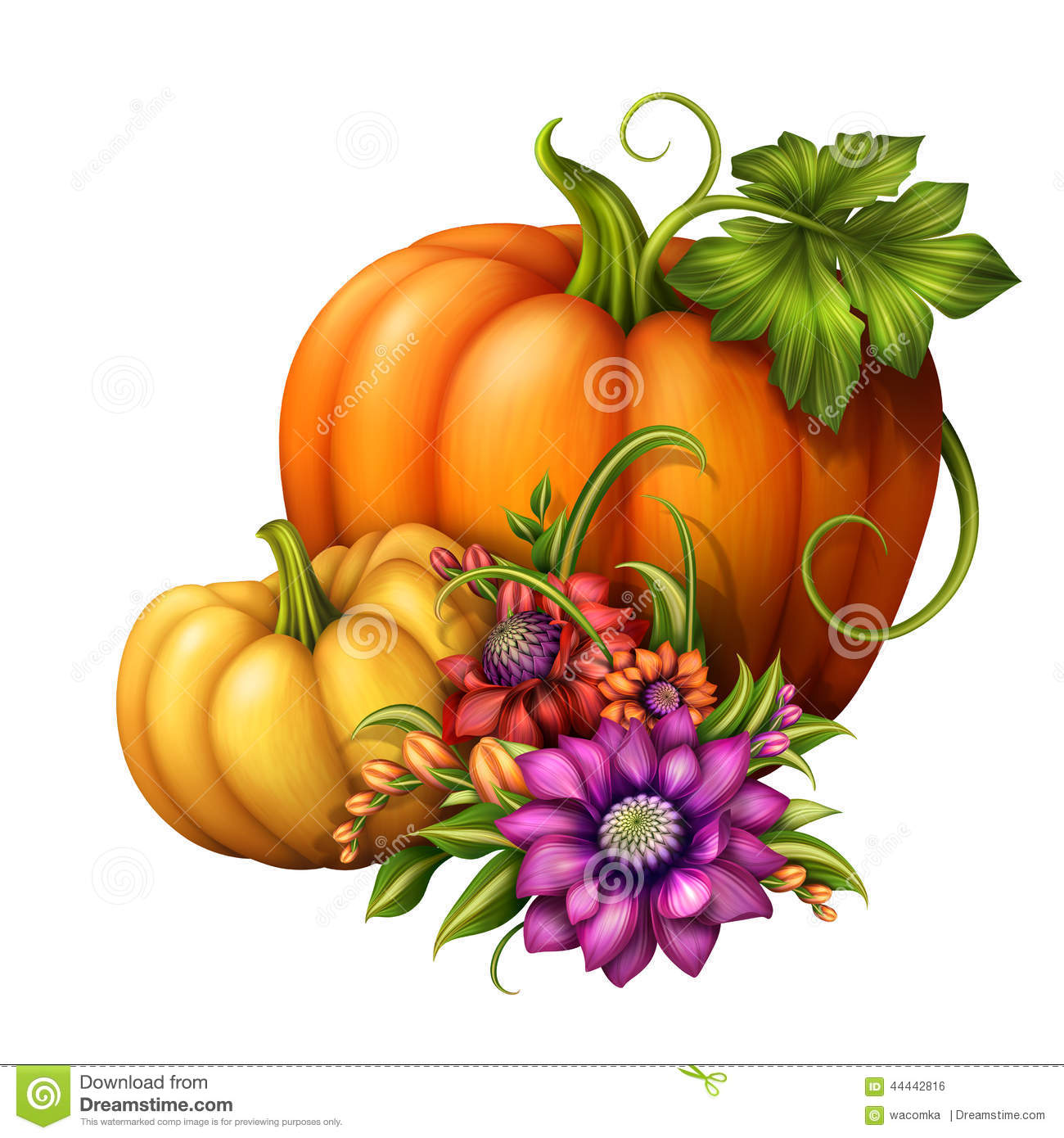 Fall flower bouquet clipart.