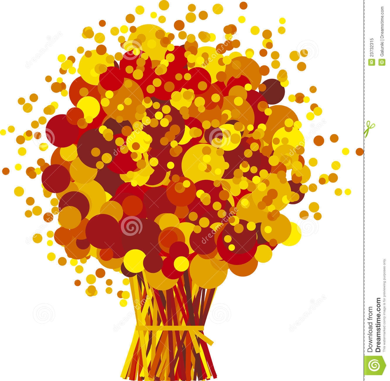 Fall Flowers Clip Art.