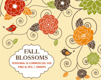 Free clipart autumn flowers.