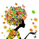 Autumn Flowers Clip Art.