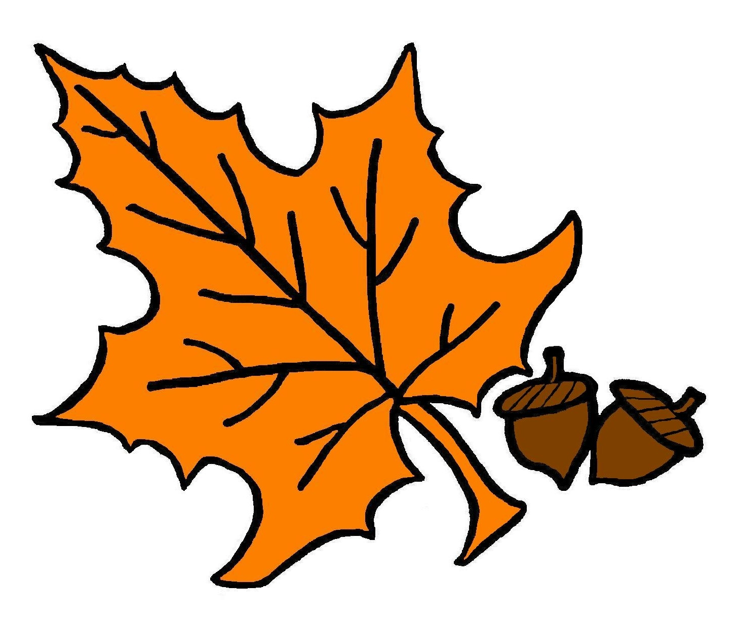 Free clipart of fall leaves.