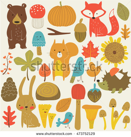 Autumn Forest Stock Images, Royalty.