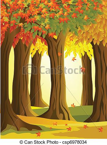 EPS Vector of Autumn forest.