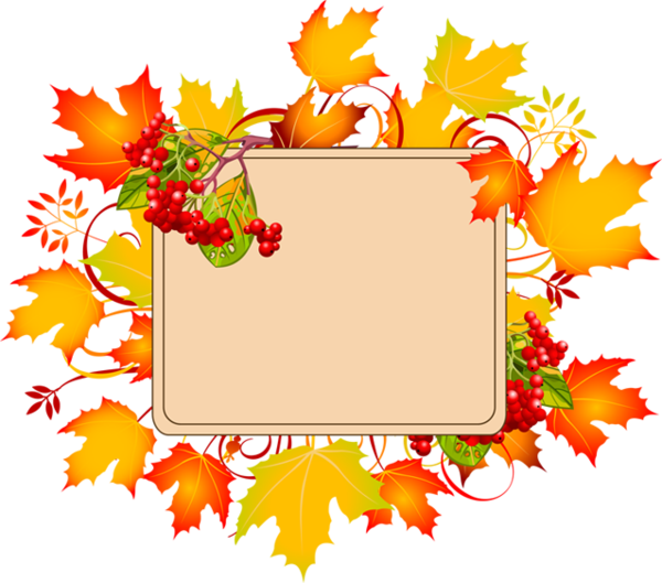 Frame clipart autumn, Frame autumn Transparent FREE for.