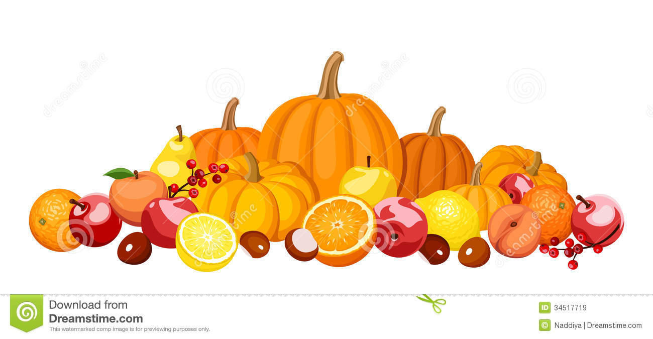 Autumn Fruits And Vegetables. Royalty Free Stock Images.