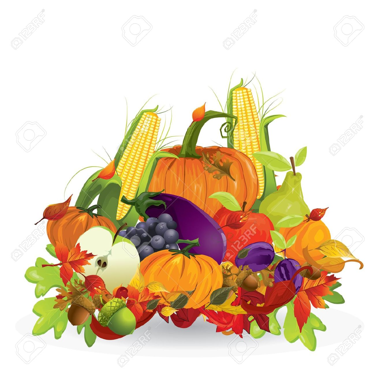 Autumn Vegetable And Fruits Royalty Free Cliparts, Vectors, And.